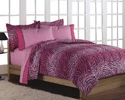 pink zebra animal print twin comforter bedding set