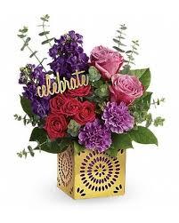 teleflora s birthday sparkle bouquet flower arrangement