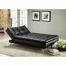 Furniture of America Stabler fortable Black Futon Sofa Bed
