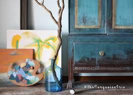 turquoise painted furniture ideas. Exellent Painted The Turquoise Iris  Furniture U0026 Art Teal Wardrobe With Gold Highlights  Makeover On Painted Ideas G