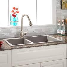 granite drop in sink. Beautiful Sink Wellknown 34u2033 Sabelle 6040 Offset DoubleBowl DropIn Granite Composite  NQ76 U2013 Photo Ratio 1500 X From Wwwsignaturehardwarecom With Drop In Sink K