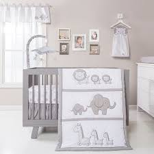 3pc crib bedding set safari chevron