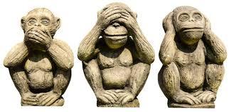 Три обезьяны - <b>не вижу</b>, <b>не</b> слышу, <b>не</b> скажу - что значит этот ...
