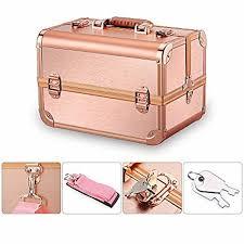 mini makeup train case with mirror