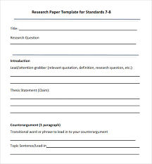 Word Research Paper Template Free 8 Sample Research Paper Outline Templates In Pdf
