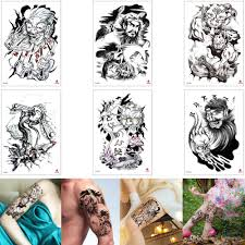 дьявол наклейка татуировки дизайн поддельные черный призрак череп чжун куй