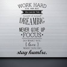 details about wall decals work hard dream big es wall stickers for office study room decor