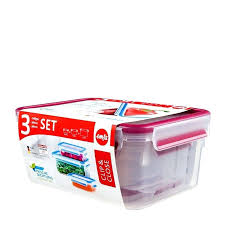 glasslock food storage set costco clip close containers 3 piece colour large