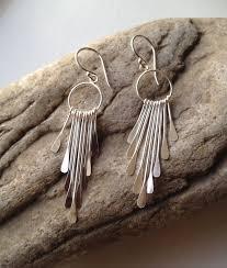 sterling silver chandelier earrings boho earrings dangle earrings uk mothers day gift birthday gift silver paw designs