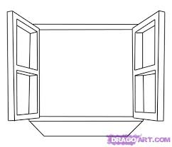 window drawing. learn how to draw a window, stuff, pop culture, free step by drawing lessons for kids, added dawn, october 4, 2008, 5:48:14 pm window