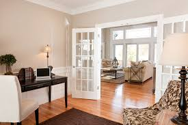 home office french doors. French Door Home Office Traditional With Hardwood Flooring Neutral Colors Living Room Doors R
