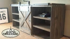 custom tv stands. Paris Farmhouse Furniture: Custom TV Stand -Large Barn (Door, 2 Shelves) Tv Stands