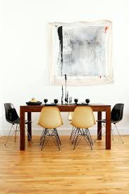 eames dining chair. Eames Dining Chair Natural And Black Chairs Style Leather