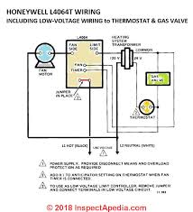 how to install wire the fan limit controls on furnaces honeywell honeywell l4064b l4064t fan limit control wiring including low voltage wires ford a gas valve