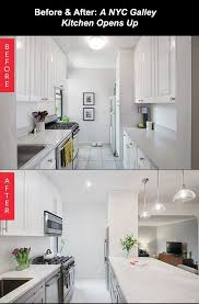 Kitchen Designer Nyc Mesmerizing Before After A NYC Galley Kitchen Opens Up Small Space Big