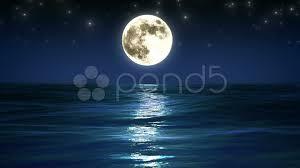 beautiful sea and moon night sky looped animation hd 1080 clip 11292382