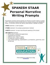 Spanish Personal Narrative Writing Prompts Gr 3 5 By Fisher Reyna