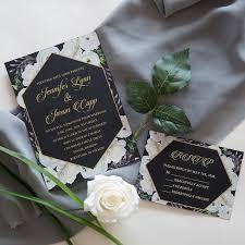 Black And White Invitation Paper Elegant White Roses Wedding Invitation On Black Paper Swuv018 Stylishwedd