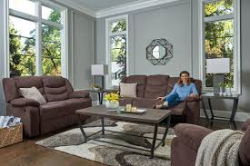 brown reclining upholstered living room set