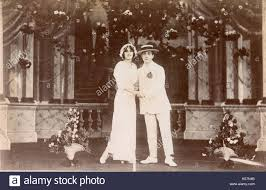 miss renouf and mr bennett on stage performing the wedding glide of 1912