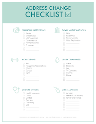 The Ultimate Change Of Address Checklist Printable
