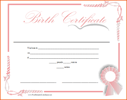 6 Birth Certificate Templates Bookletemplate Org