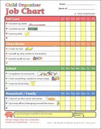 Child Organizer Job Chart Child Organizer Job Charts