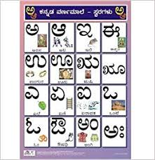 Amazon In Buy Kannada Alphabet Charts Vowels For Kids