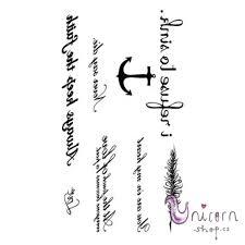 Nalepovací Tetování Kotva S Citáty