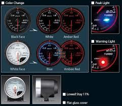 rhdjapan defi link advance cr turbo boost gauge 60mm black 1 2 defi advance zd install at Defi Meter Wiring Diagram