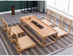 find more living room sets information about 5pcs set modern bamboo furniture sets floor table anese style tatami coffee tea living room furniture
