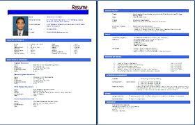 Contoh Resume Bahasa Melayu, Resume Kerja Swasta, Resume Kerja with  Download Resume Template Bahasa