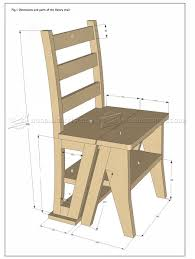folding step stool chair plans make 4 futuristic woodarchivist