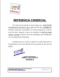 Formato Referencia Personal Carta De Referencia Comercial Formatos Y Modelos Legales Piedras