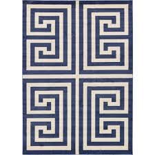 unique loom athens navy blue 7 ft x 10 ft area rug