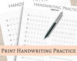 Handwritting Practice Print Handwriting Practice Sheets 5mm Dot Grid For Bullet Journal Uppercase Lowercase Printable
