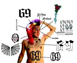 временная татуировка Tekashi 6ix9ine Temporary Tattoos Realist