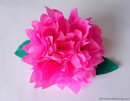 Making Flower Using Crepe Paper How To Make Crepe Paper Flowers Video Tutorial