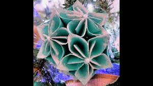 Paper Flower Christmas Tree Christmas Decor Origami 3d Gifts