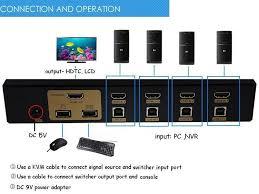 4 port usb hdmi kvm switch for pc monitor mouse keyboard buy kvm connection diagram 4 port usb hdmi kvm switch for pc monitor mouse keyboard