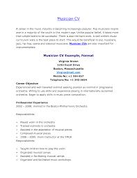 Sample Resume For Musician Gallery Of Musician Resume Template