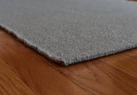 solid light grey flatweave eco cotton rug 1