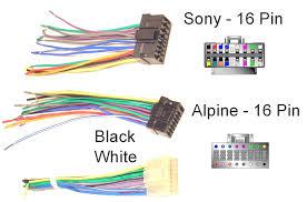 car audio connection diagram sony car stereo wiring harness diagram Car Stereo Wiring Diagram at Connections Of A Car Stereo Wiring