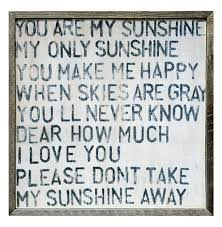 you are my sunshine square reclaimed wood frame wall art 25 inch kathy kuo