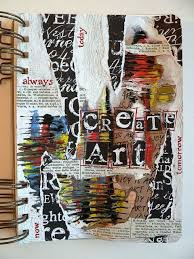 collage and mixed a art journal page exles