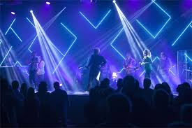 Angled Glow Lines Church Stage Design Stage Lighting