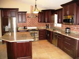 image of refinished oak kitchen cabinets for