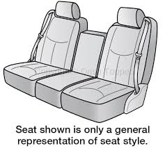 2004 chevrolet tahoe seat cover front bench