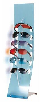 countertop eyewear display stand with 6 holders