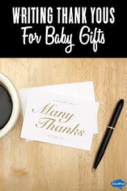 Writing Thank You Notes For Baby Gifts | Cloudmom